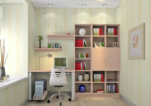 bureau-avec-étagère-et-petite-bibliothèque