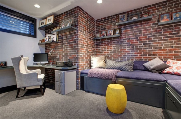 bureau-avec-étagère-et-sofas-intérieur-artistique
