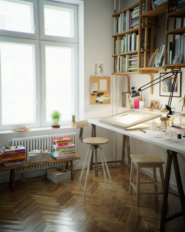 bureau-avec-étagère-intérieur-unique