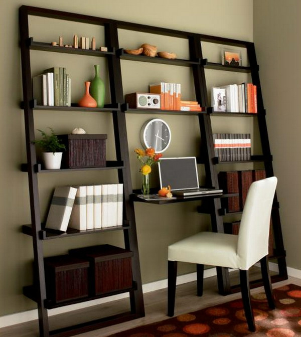 bureau-avec-étagère-petite-bibliothèque-design
