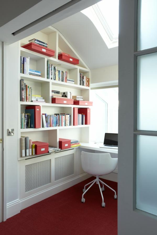 bureau-avec-étagère-rayonnage-blanc