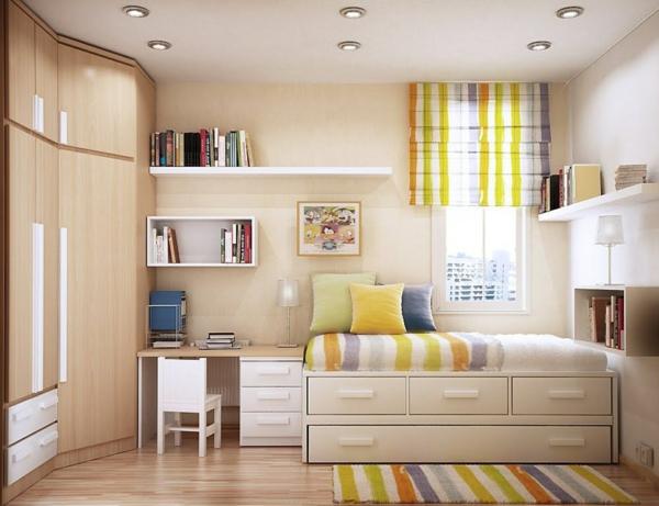 bureau-avec-étagère-rayonnage-original-dans-une-chambre-à-coucher