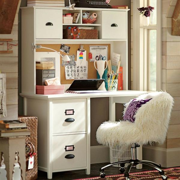 bureau-avec-étagère-un-équipement-pour-chambre-de-fille