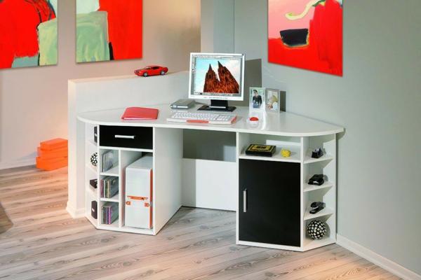 bureau-avec-étagère-un-bureau-d'angle-avec-rangement