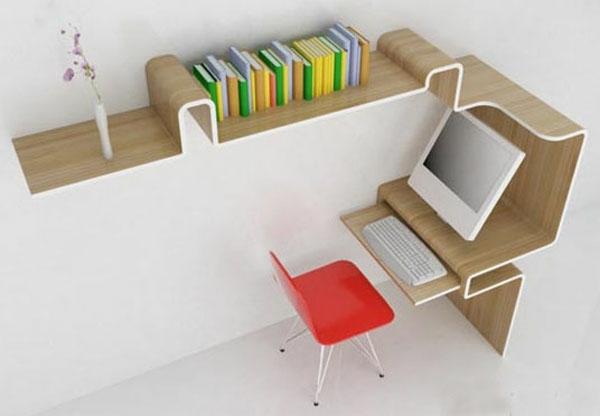 bureau-avec-étagère-un-bureau-unique