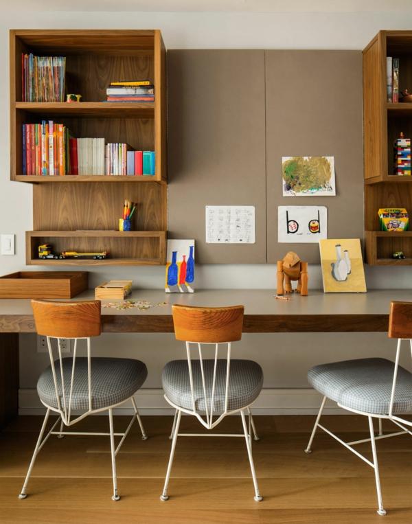 Le bureau avec tag re designs cr atifs for Grand bureau design