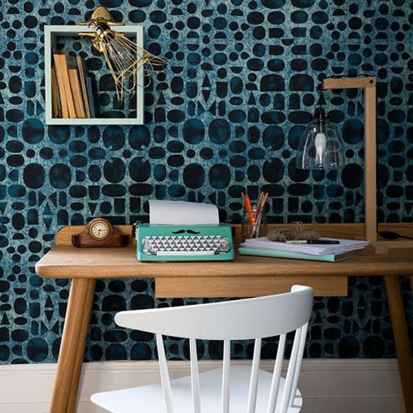 bureau-avec-étagère-une-petite-étagère-murale