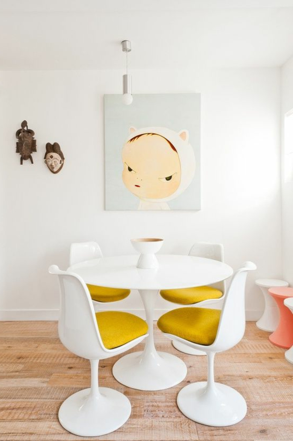 Table and tulip images knoll international images tulip table wondrous chr - Petite table ronde blanche ...