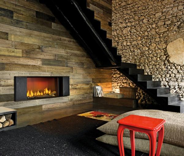 cheminée-contemporaine-design-déco-rustique