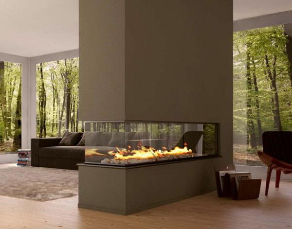 cheminée-contemporaine-double-face-salle-de-séjour-espace-ouvert