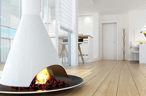 cheminée-contemporaine-foyer-au-sol-cheminée-design-triangulaire
