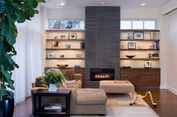 La deco avec une cheminee contemporaine for Superior idees pour la maison 9 stickers pour vitres pour decorer et pour preserver votre