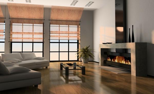 cheminée-contemporaine-jolie-cheminée-à-l'encadrement