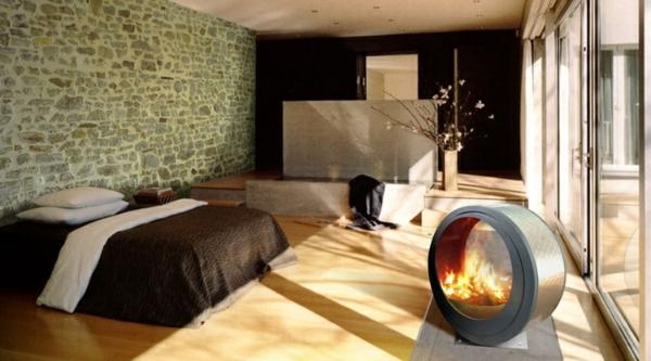 cheminée-contemporaine-un-foyer-rond-unique