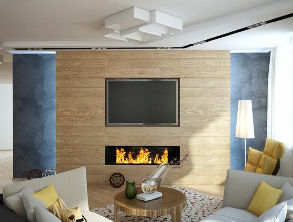 cheminée-contemporaine-un-panneau-en-bois-déco
