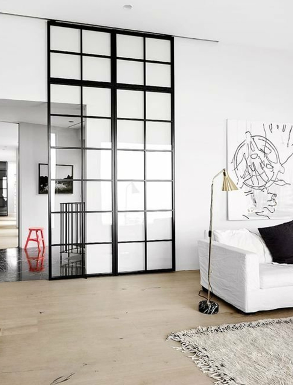 la cloison vitr e int rieure pour un espace original. Black Bedroom Furniture Sets. Home Design Ideas