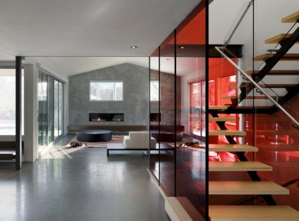 La cloison vitr e int rieure pour un espace original for Interni case minimaliste