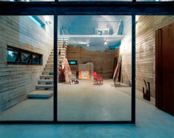 cloison-vitrée-intérieure-et-un-stufio-d'artiste