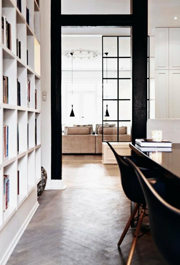 cloison-vitrée-intérieure-grande-étagère-murale