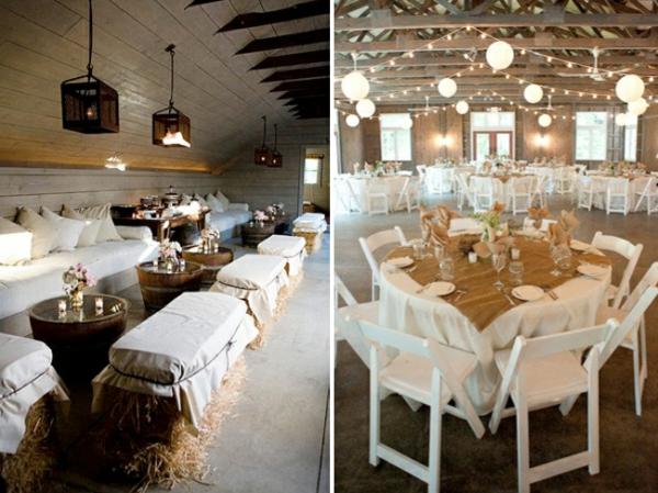 cool-design-idee-de-deco-pour-mariage-champetre-avec-des-chaises-blanc-des-lampes