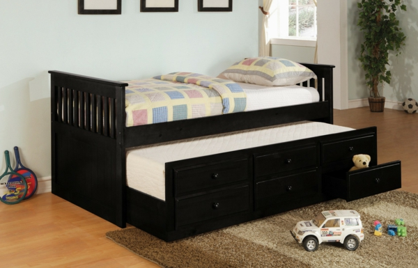 design du lit gigogne pratique et cosy. Black Bedroom Furniture Sets. Home Design Ideas