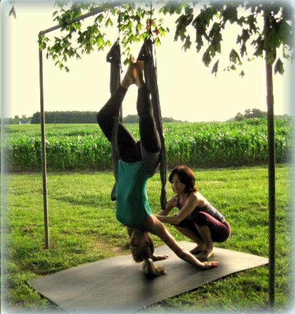 Yoga Swing Session with Kara, June 2013