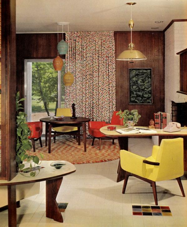 décoration-vintage-chaise-jaune-vintage