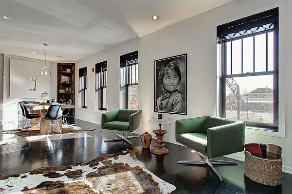 décoration-vintage-chaises-vertes-vintage