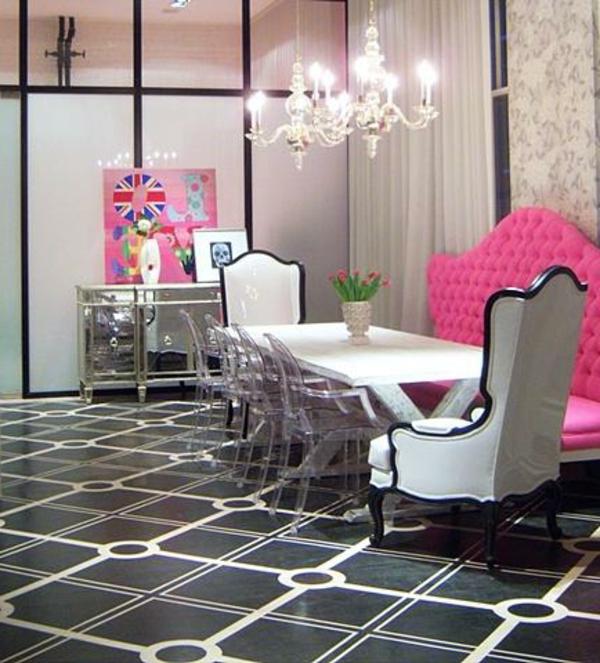 décoration-vintage-en-rose-et-noir