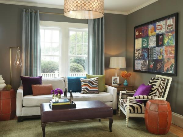 décoration-vintage-fauteuil-zébré-sofa-blanc