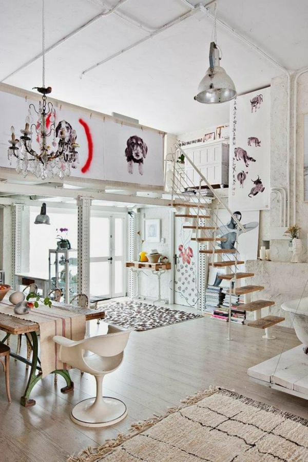 décoration-vintage-intérieur-enchantant-en-blanc
