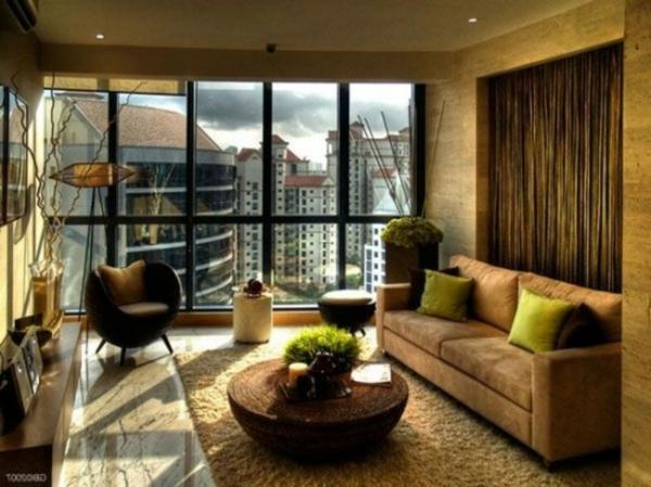 décoration-vintage-chambre-marronne-contemporaine