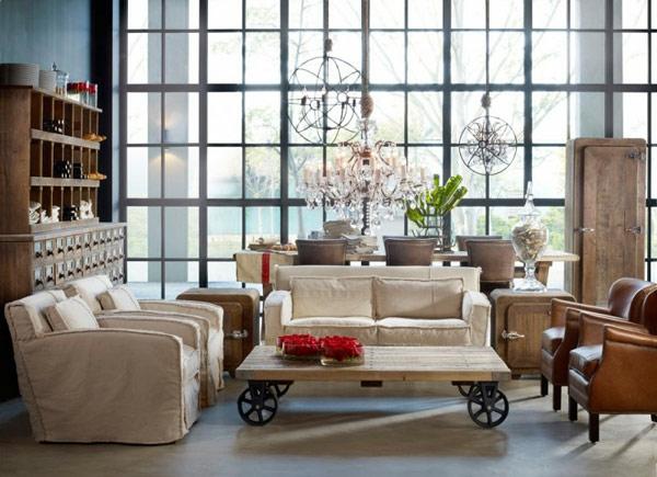 décoration-vintage-salle-de-séjour-vintage