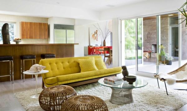 décoration-vintage-sofa-jaune-vintage