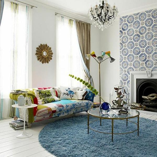 décoration-vintage-sofa-multicolore