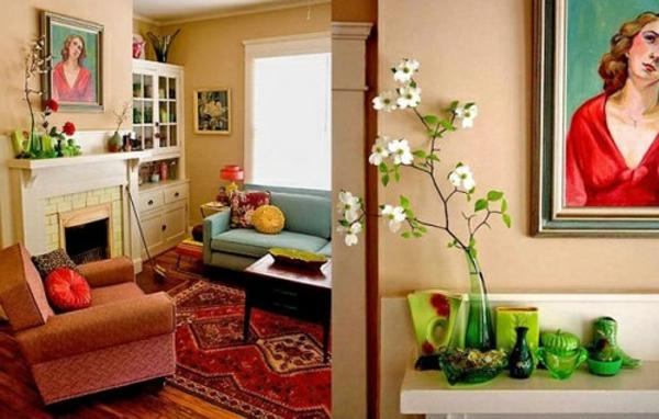 décoration-vintage-sofas-vintage-et-peinture-originale