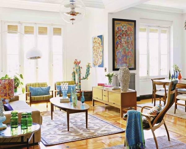 décoration-vintage-un-salon-contemporain-à-déco-vintage
