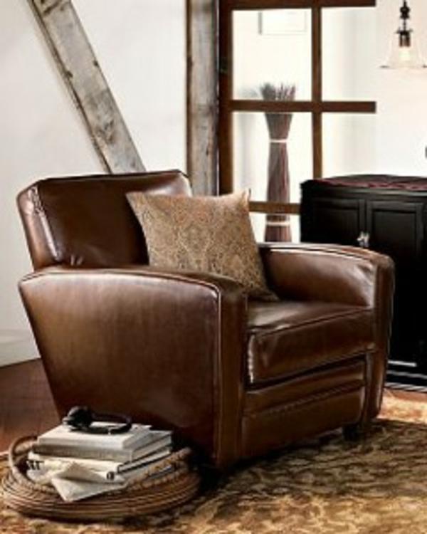 fauteuil-en-cuir-de-salon-classique