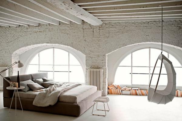fauteuil-suspendu-chambre-à-coucher-industrielle