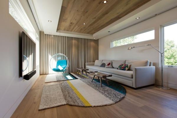fauteuil-suspendu-intérieur-moderne-déco-bois