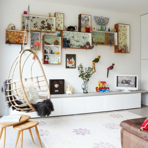 fauteuil-suspendu-rangement-mural-créatif