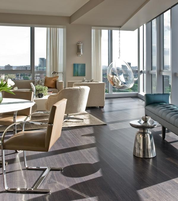 fauteuil-suspendu-transparent-intérieur-contemporain