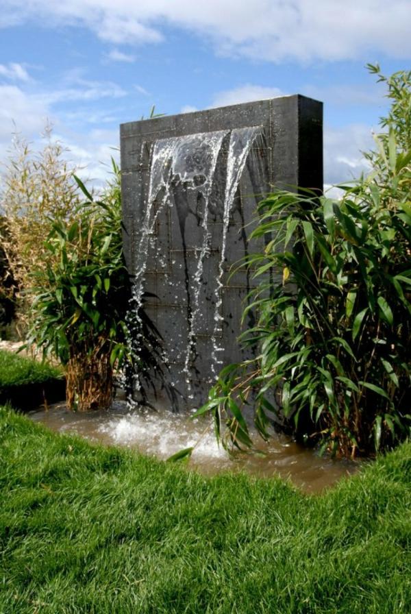 La déco extérieure avec une fontaine murale - Archzine.fr