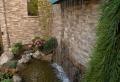 La déco extérieure avec une fontaine murale