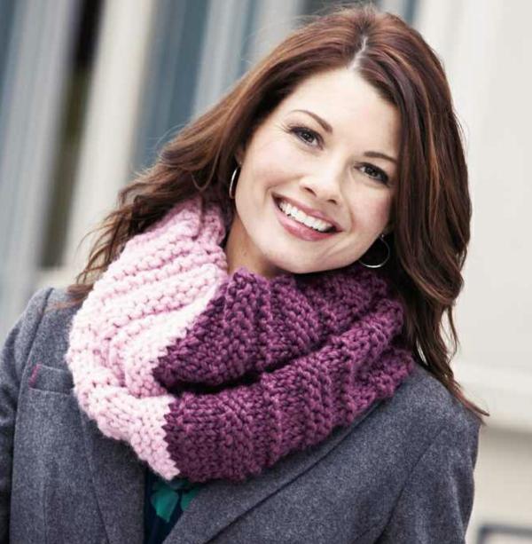 foulard-tube-bicolore