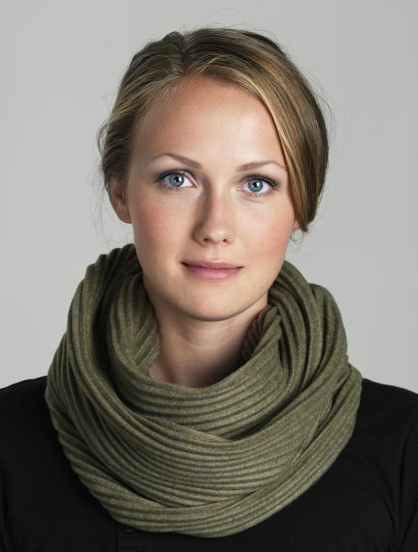 foulard-tube-couleur-verte