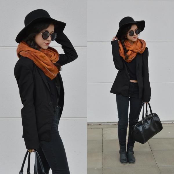 foulard-tube-orange