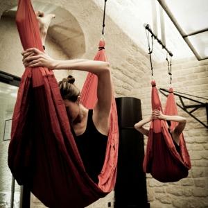 Yoga balançoire- sportif et original