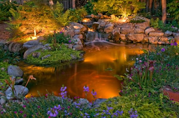 jardin-aquatique-avec-éclairage-extérieur-enchantant