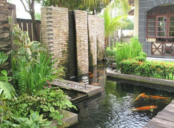 Designs jolis et spectaculaires de jardin aquatique for Bassin design